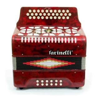 Acordeon Farinelli De Botones Tono De Fa Varios Colores