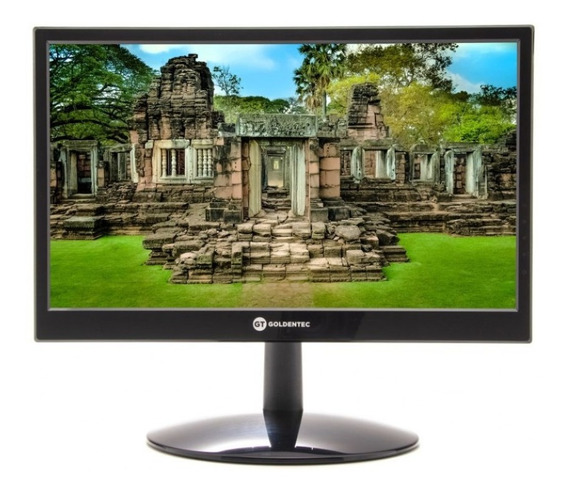 Monitor Led 15.6 Widescreen Goldentec Mg15 Vga / Hdmi Preto