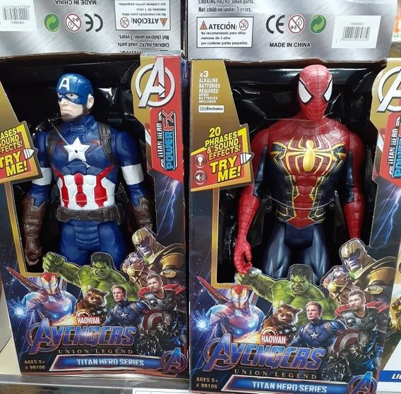 Muñecos Avengers Grandes De Sonido Y Luz Juguete Para Niños