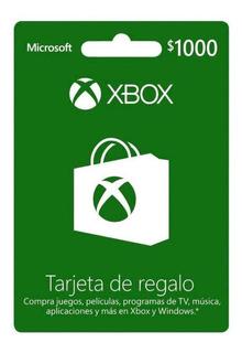Tarjeta De Regalo Xbox $1000 Pesos Mexicanos (código)