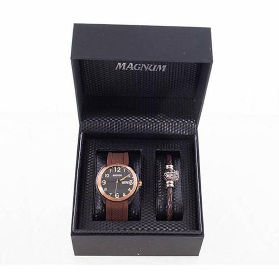 Relógio Magnum Masculino Kit Com Pulseira Ma34987x