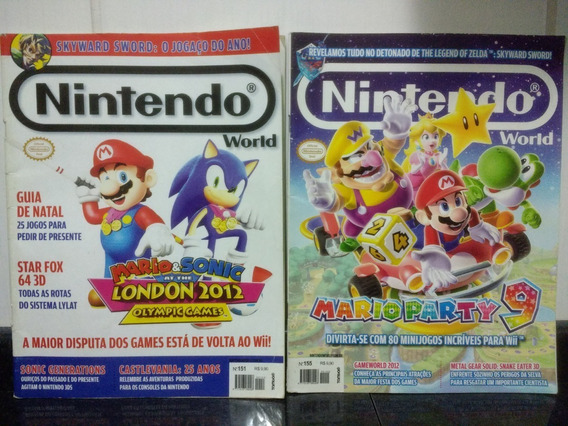 Lote 2 Nintendo World C/ Sonic E Zelda + Manual Pokemon Rjhm