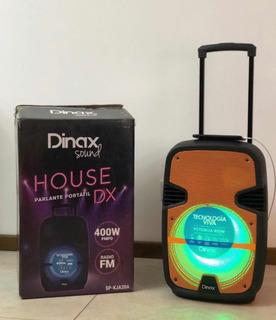 Parlante Valija Karaoke Dinax House 400w Ultrapotente