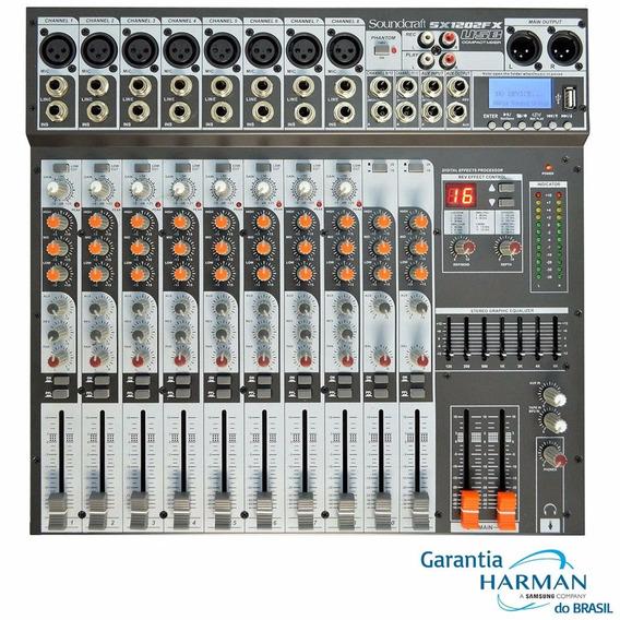 Mesa Analógica Soundcraft Sx 1202 Fx 12 Canais Usb Original