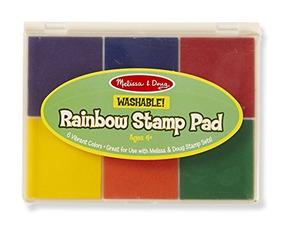 Melissa - Doug Rainbow Stamp Pad - 6 Tintas Lavables