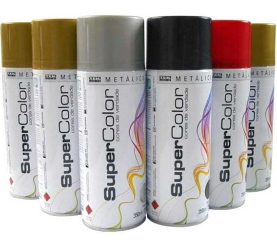 Tinta Spray Secagem Rápida Tekbond Cores Metálicas 8 Unid