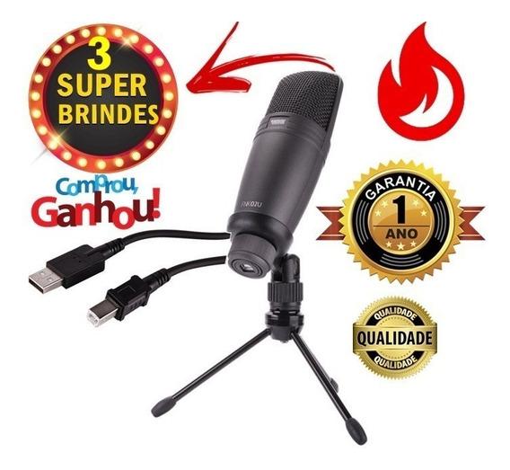 Microfone Condensador Estúdio Usb Novik Neo Promoção +brinde