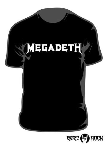 Remera Estampada Megadeth Vinilo Importado