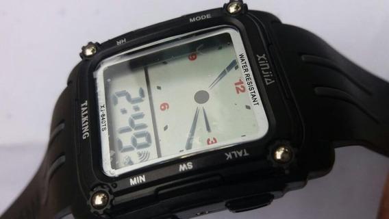 Relógio Que Fala Espanhol Resistente Água Para Cegos
