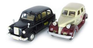 Miniatura Lote 2 Carros Antigos De Serviço Fricção