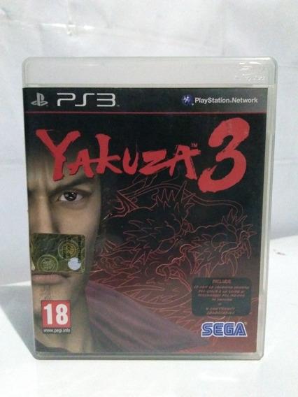 Jogo Yakuza 3 Ps3 Mídia Fisica Completo R$99,90