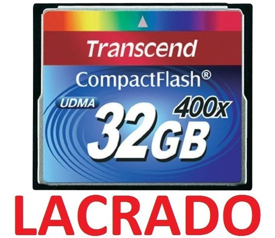 Compact Flash Cf 32gb Transcend Premium 400x Udma7 Full Hd