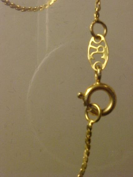 ##053p - Pulseira Em Ouro Com 18,5cm Compr