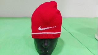 Vintage Gorro Nike 90 Futbol Niñ@ Beanie Bonete Rojo