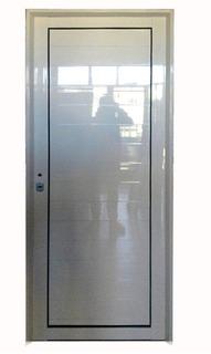 Puerta De Aluminio Blanco Exterior Reforzada 80 X 204 Ciega