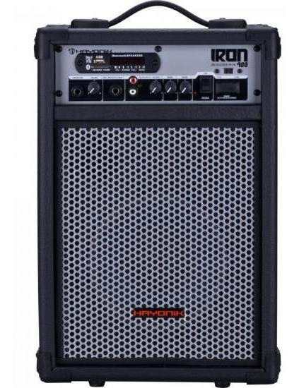Caixa Multiuso 60w Bluetooth/usb/sd/fm Iron 400 Pret Hayonik