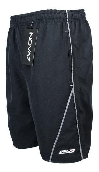 Kit 3 Shorts Tactel Elástico Masc. 3 Bolsos C/ Viés Nova7