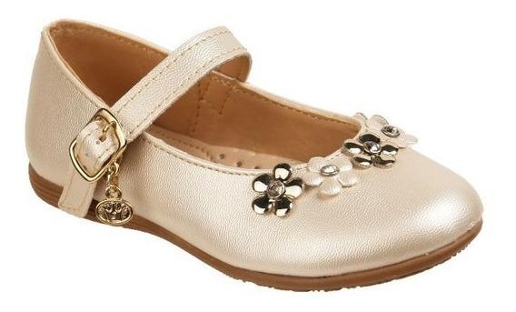 Zapato Jakuna Tipo Balerina Color Palomitas Dorado 18844**