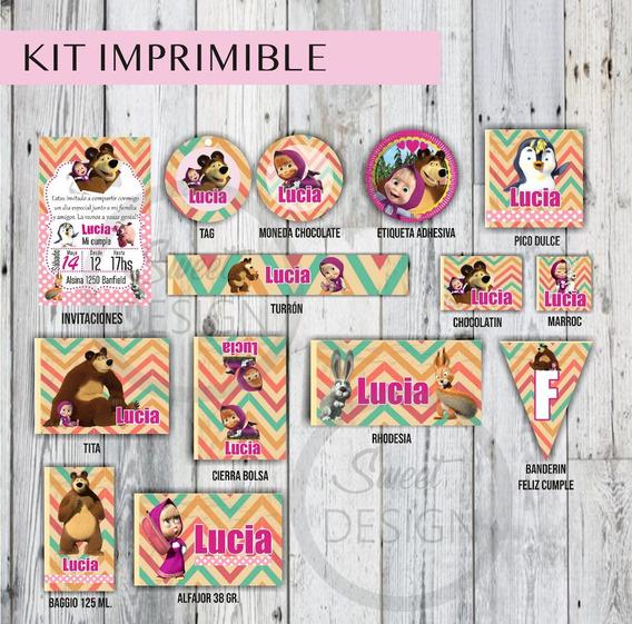 Kit Imprimible Candy Bar Maya Y El Oso