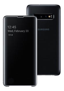 Capa Protetora Clear View Samsung Galaxy S10 Plus Preta