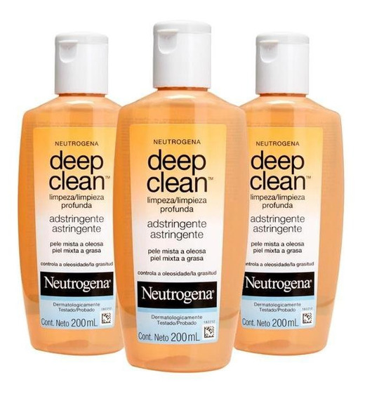 Kit Com 3 Adstringentes Neutrogena Deep Clean 200ml
