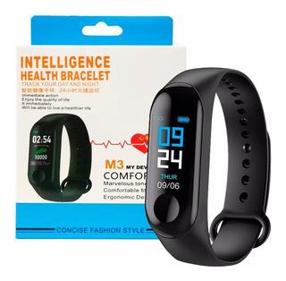 Reloj Brazalete Inteligente M2 Monitor Ritmo Cardiaco Negro