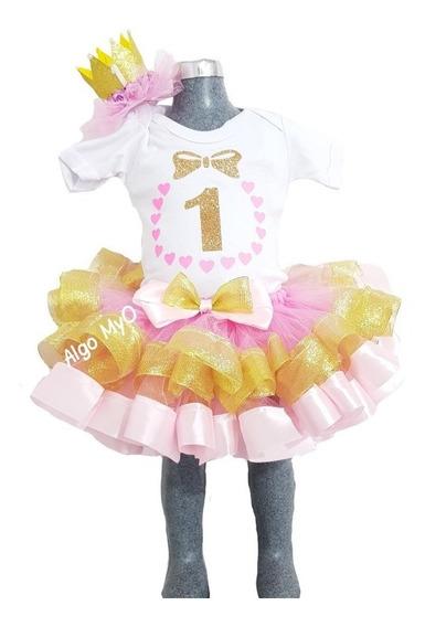 Tutú De Listón Un Año Smashcake Pañalero Ribbon Princesa