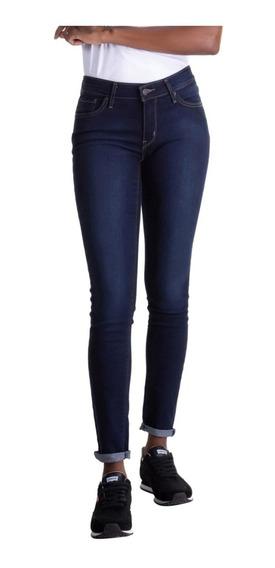 Calça Jeans Levis 711 Skinny Escura - Original 188810025