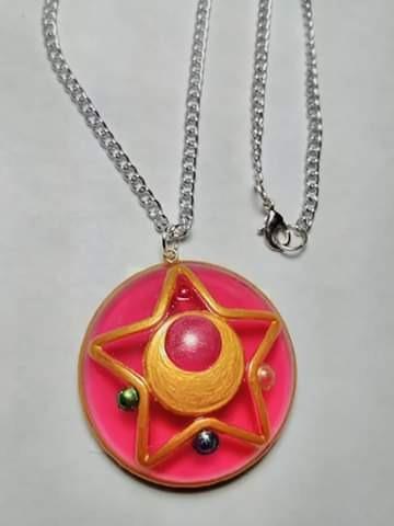 Collar Broche De Transformacion Sailor Moon Make Up Estrella