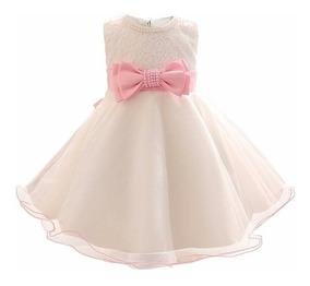 Vestido Blanco Bebe Bautizo - Bazar Amanda