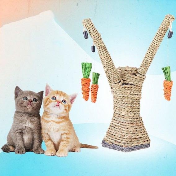 Gato Brinquedos Interativo Coçando Post Sisal Corda Pet Gat