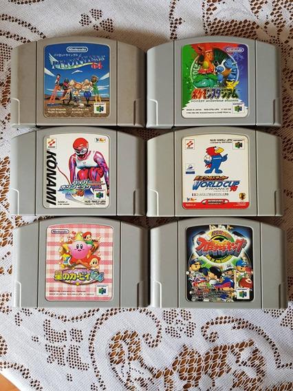Lote 6 Cartuchos Japoneses Nintendo 64
