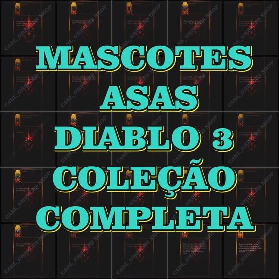 Diablo 3 Ps4 - Pack Completo De Asas E Mascotes + Brindes