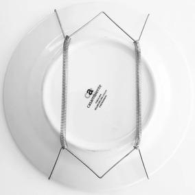 Pratos (suporte) Kit 10 Pçs De Parede Todo Em Aço Inox