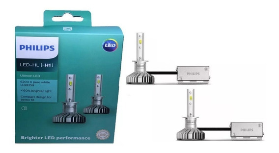 Kit Lâmpada Led Farol Philips Ultinon H1 6200k Original Nova