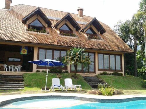 Casa Com 4 Dormitórios À Venda, 550 M² Por R$ 2.800.000,00 - Condomínio Estância Marambaia - Vinhedo/sp - Ca1013
