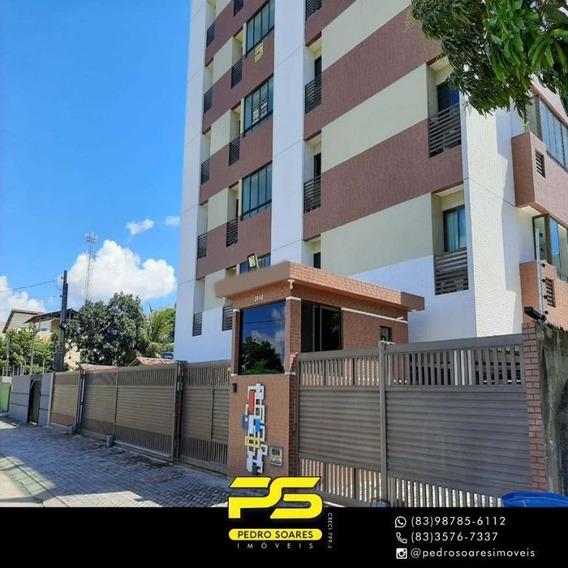 Apartamento Com 2 Dormitórios Para Alugar, 60 M² Por R$ 2.000/mês - Portal Do Sol - João Pessoa/pb - Ap3263