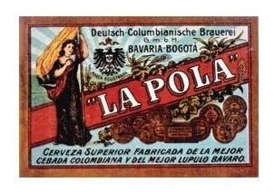 Bavaria Cerveza La Pola - Reimpresión Etiqueta Antigua