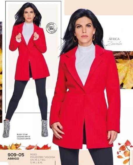 Oferta Abrigo Gabardina Rojo Dama Cklass 909-05 Inv-19 Sexy