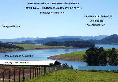 Represa Para Venda Em Bragança Paulista, Condomínio, Represa, Pé Na Água., 2 Dormitórios, 1 Suíte, 1 Banheiro, 2 Vagas - 912