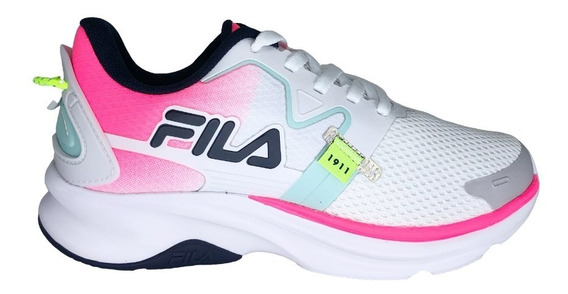Tênis Feminino Fila Racer Motion Branco E Rosa