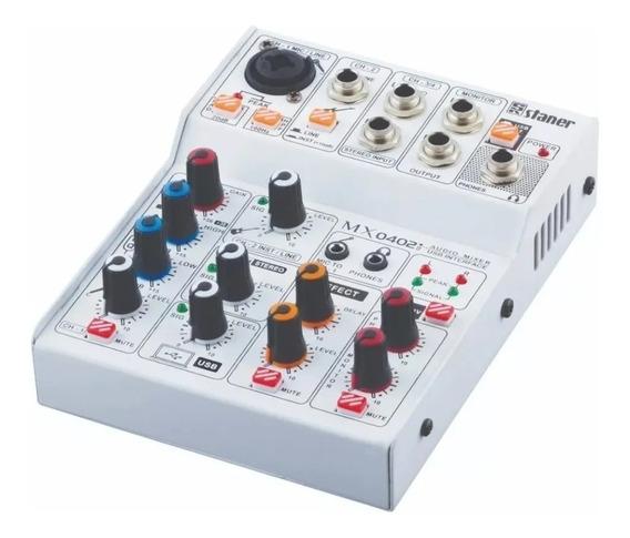 Mesa Staner 4 Canais Mx-0402i Audio C/ Interface Usb/ Bt