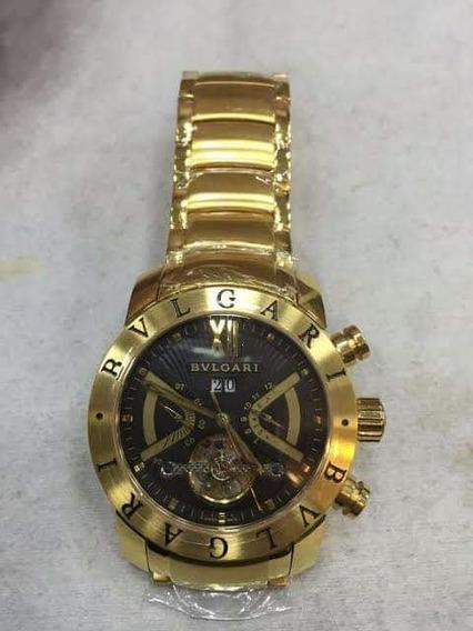 Relógio Bvlg Iron Man Automático Fundo Preto