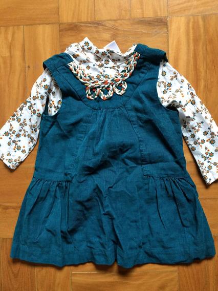 Vestido Zara Baby - Tamanho 9 Meses