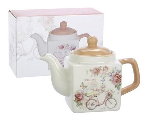 Tetera De Ceramica Linea Holiday Color Rosa 300ml