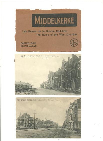 Belgica: 5 Postkarte Ruinas 1ra.guerra Mundial