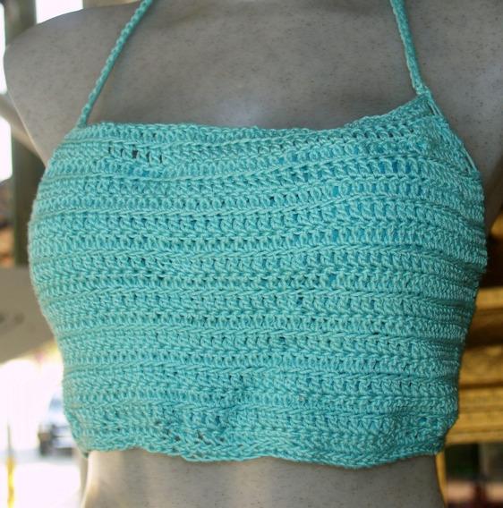 Top Halter Crochet Algodón