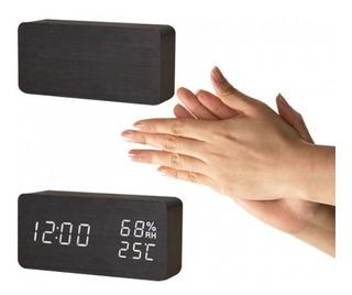 Reloj Despertador Digital Led Control Por Sonido (aplauso)