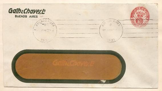 Sobre Año 1931 Gath E Chaves Ltd Buenos Aires Franque Pagado