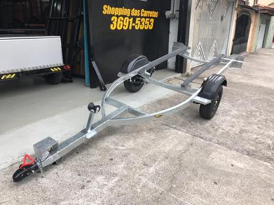 Carreta Para Jet Ski Galvanizada A Fogo Com Led